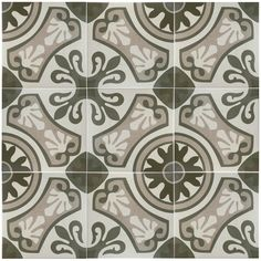 The SomerTile 13x13-inch Olivia Gris Ceramic Floor and Wall Tile is a satin finished tile that is durable and easy to maintain. Providing a cement look, this product presents vine and floral shapes that will give your floors or walls a charming look.