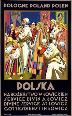 Divine Service at Łowicz (Mazovia, Poland) design by Stefan Norblin - 1930