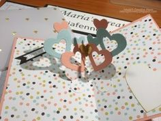 Valentine's Day Heart Heart Pop Up Card Fun and easy to make.