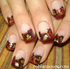 "Nail-art by Robin Moses: ""fall thanksgiving autumn nail art"""