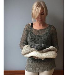 Hand knit linen sweater,100% Linen in 4 colors