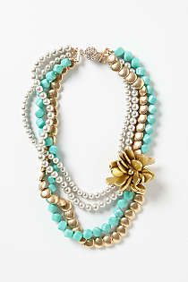 Anthropologie - Enchant Brooch Necklace