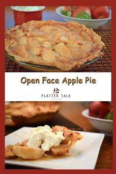 Open Face Apple Pie Recip / #Apple #Face #open #Pie #RECIP Open Face Apple Pie Recipe, Apple Pie Recipes, Tart Recipes, Apple Pies, Dessert Recipes, Köstliche Desserts, Homemade Desserts, Delicious Desserts, Yummy Food