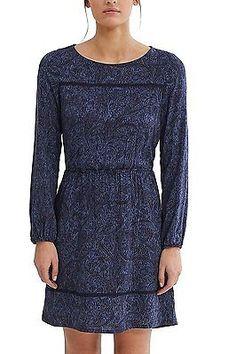 36, Multicoloured (Navy), ESPRIT Women's 027ee1e004 Dress NEW