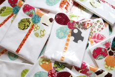 add a little pop to your kitchen or bathroom with a hand appliqued towel designed by Amy Schilling for Girls Day Out.