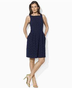 Navy eyelet - Ralph Lauren dress
