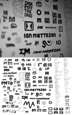 Ian Matteson logo design For the full developmental process go to http://blog.wanken.com/2396/branding-ianmatteson/