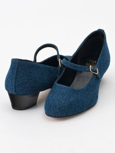 American Apparel - Mary Jane Pump Denim Shoe
