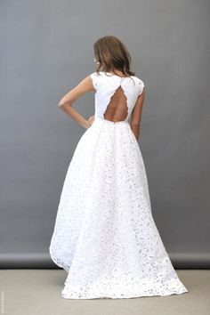 Haley Paige bridal.. in love with the back design.