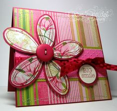 Pick a Petal  RSCC12 by smileycollector - Cards and Paper Crafts at Splitcoaststampers Kids Cards, Baby Cards, Tampons, Handmade Decorations, Flower Cards, Cute Cards, Creative Cards, Homemade Cards, Diy For Kids