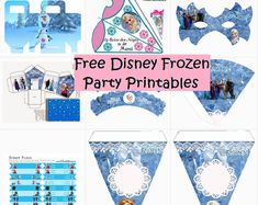 Free Disney Frozen party printables and party ideas