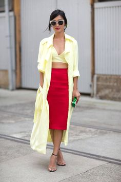 Whitened pure colors is a sign of Brightness. The yellow here is clearly Bright and the skirt is too, even though more saturated.