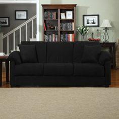 Montero Microfiber Convert-A-Couch Sofa Bed, Multiple Colors