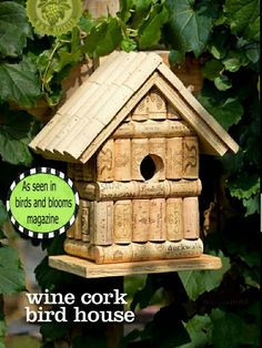 Wine Cork Birdhouse Each Unique*