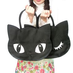 osyarehime | Rakuten Global Market: Our original your eyes our bright soft if Peel type ネコトート bags handbag bag ladies bag cat gadgets store cat rose goods oshare Princess ladies bag cat face bag
