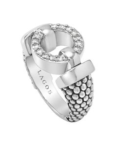 LAGOS Jewelry diamond pavé ring from the Enso collection.