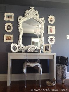 A dressing table, chair, and lights are all you need to create a comfortable makeup area in your home and add a new sensation to interiors design Malm Dressing Table, Dressing Table With Chair, Dressing Area, Dressing Mirror, Dressing Rooms, My New Room, My Room, Dorm Room, Bedroom Furniture