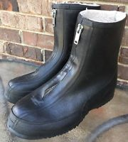 Vintage LACROSSE Black Rubber Boots Galoshes Outdoors Size 12
