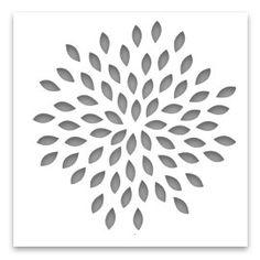 Plantilla de pared floral plantilla de flor grande para - Plantillas para decorar paredes ...