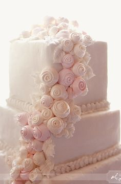 dessert, cake, multi-tier, embellishments, flowers, fondant, modern, square, silk