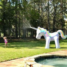 Unicorn Sprinkler Inflatable Unicorn Water Toys- Outdoor Inflatable Ginormous Unicorn Yard Sprinkler for Kids Unicorn Sprinkler, Giant Inflatable Unicorn, Unicorn Bedroom, Unicorns And Mermaids, Water Toys, Unicorn Gifts, Magical Unicorn, Rainbow Unicorn, Baby Unicorn