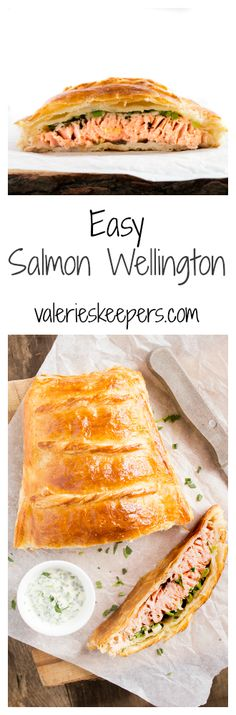 "This Salmon Wellington is the best ""high impact/low effort"" recipe. Not only it is super easy, it's also elegant and completely delicious. Salmon Recipes, Fish Recipes, Seafood Recipes, Dinner Recipes, Cooking Recipes, Healthy Recipes, Fish Dishes, Seafood Dishes, Fish And Seafood"