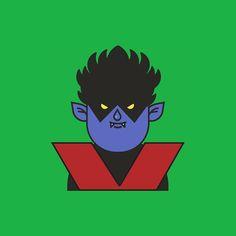 Nightcrawler - Classic Costume. @marvel #xmen #nightcrawler #xmenapocalypse #fanart #icons  #illustration #design #outline #art #vector #graphic #graphicdesign #iconography #graphicdesignblg #graphicgang #graphicdesigncentral #thedesigntip #picame #illustree #fanartfriday