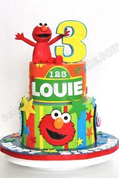 ❤ Elmo Cake