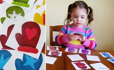"mitten matching activity to go with ""The Mitten"" or ""Three Little Kittens"" {FREE printable}"