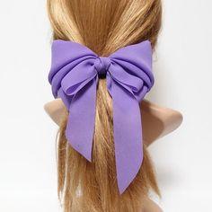 Bow Slide Barrette Vintage Hair Barrettes Dark Burgundy Color almost black