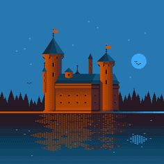 [OC] Night Castle : PixelArt