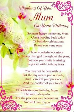 Picture 27 of 35 Birthday Wishes For Mum, Happy Birthday Mom Images, Birthday Wishes In Heaven, Happy Birthday Quotes For Her, Happy Heavenly Birthday, Happy Birthday Mummy, Birthday Poems, Mum Birthday, Mother Birthday Quotes