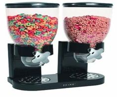 Cereal Dispenser - keep your cereal fresh and dispense just the right amount.