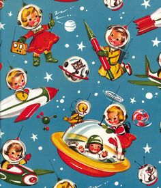 Vintage gift wrapping paper oh so retro! Vintage Greeting Cards, Vintage Christmas Cards, Retro Christmas, Christmas Images, Vintage Holiday, Christmas Art, Vintage Gifts, Christmas Wrapping, Xmas