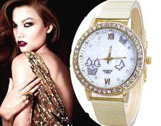 Złoty zegarek damski Bloger cyrkonie butterfly EdiBazzar Boho Style, Michael Kors Watch, Boho Fashion, Watches, Metal, Accessories, Jewelry, Bohemian Fashion, Jewlery