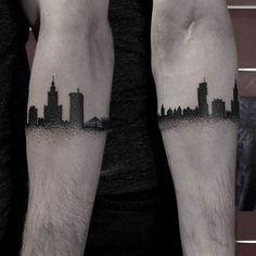Warsaw skyline #tattoo #Tylbor #dotwork #dotworktattoo #skyline #skylinetattoo #warsaw #warsawtattoo #ilovewarsaw #warszawa #cityscape #citytattoo #blackwork #blackworkerssubmission #btattooing #minimaltattoo #armband #armbandtattoo