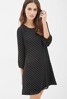 Polka Dot Shift Dress | Forever 21 - 2000136373