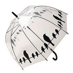 Women's Birds On A Wire Clear Bubble Umbrella