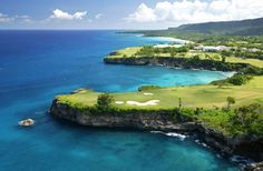 Playa Grande, Rio San Juan, Dominican Republic... one of the Caribbean's most beautiful beaches and the longest of the north coast... boasts the gorgeous Playa Grande Golf Club designed by Robert Trent Jones Sr. <3 pretentious rich man sport :)