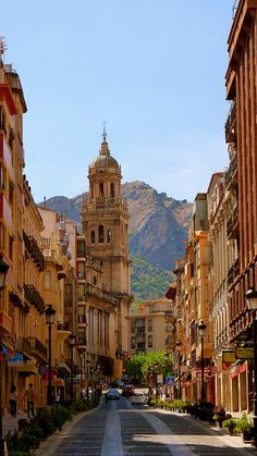 Jaen (Andalusia, Spain) also known as the World's Capital of Olive Oil, because it's the biggest producer of this liquid gold (as the locals refer to it). The layout of Jaen is determined by Santa Catalina mountains, with steep, narrow streets, in the historical old town. | Picture by robinji, via Flickr)