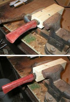 Knife making vise