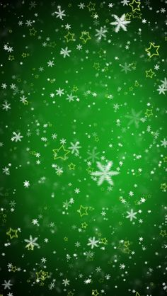Tap image for more Christmas Wallpapers! Green Snowflakes-05 - mobile9