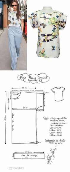 Sewing Clothes Diy Dress Free Pattern 58 Ideas For 2019 Designer Blouse Patterns, Dress Sewing Patterns, Sewing Patterns Free, Clothing Patterns, Sewing Tutorials, Shirt Patterns, Sewing Diy, Dress Tutorials, Sewing Dolls