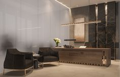 Modern Luxury CEO Office Interior Design - Jeddah, Saudi Arabia Modern Luxury CEO Office Interior Design Modern and luxurious secretary's office and a waiting area, elegance is seamlessly achieved by the use of subtle lighting and warm colour tones of t