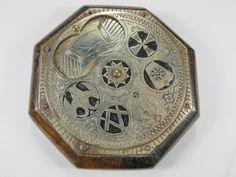 Antique Masonic wooden snuff box.
