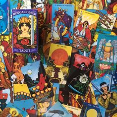 The Morgan-Greer Tarot is a deck illustrated by Bill Greer. The tarot card designs are heavily influenced and adapted from the Rider-Waite deck. I especially like this deck for its use of heavily saturated colors and full bleeds.
