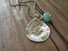 "Hand Stamped ""Adoption"" Necklace."