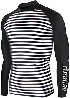 New Surf Summer Beach Rash Guard Men Long Sleeve Top Swimwear Swimsuit L R0505Stripe *** Clicking on the image will lead you to find similar product
