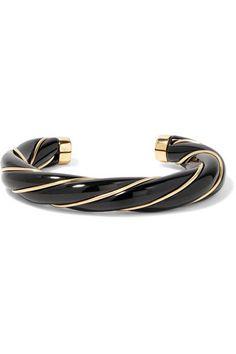 Aurélie Bidermann - Diana Gold-plated Resin Cuff - Black - one size