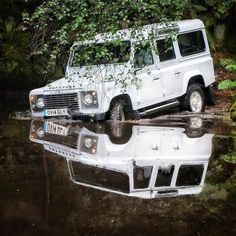 """897 Likes, 2 Comments - @landroverphotoalbum on Instagram: """"Take a dip and reflect. By @waynemitchelson #landrover #Defender110csw #landroverdefender…"""""""